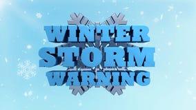 Advertência da tempestade do inverno - consultivo de tempo video estoque