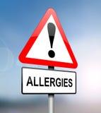 Advertência das alergias. Fotografia de Stock Royalty Free