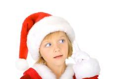 Advertência de Santa Foto de Stock Royalty Free