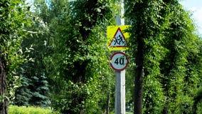 Advertência dos sinais de estrada Imagens de Stock Royalty Free