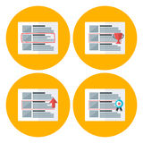 Advert flat circle icons set Stock Photos