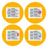 Advert flat circle icons set Stock Photos