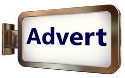 Advert on billboard background. Advert on wall light box billboard background , isolated on white stock illustration