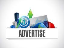 Adverteer bedrijfsillustratieontwerp vector illustratie