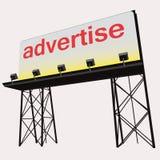Adverteer bouw van het aanplakbord de duidelijke paneel stock illustratie