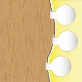Adverteer cirkelbrochure stock illustratie