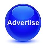 Adverteer glazige blauwe ronde knoop royalty-vrije illustratie