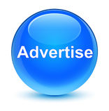 Adverteer glazige cyaan blauwe ronde knoop royalty-vrije illustratie