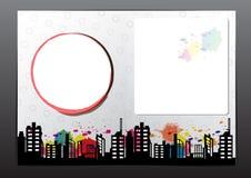 Adverteer het ontwerp van de lay-outbrochure stock illustratie