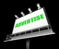 Adverteer het Teken Bevordering vertegenwoordigt en vector illustratie
