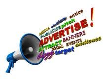 Adverteer megafoonwoorden Royalty-vrije Stock Foto's