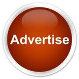 Adverteer premie bruine ronde knoop vector illustratie