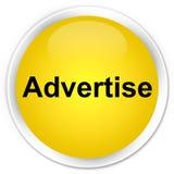 Adverteer premie gele ronde knoop royalty-vrije illustratie