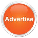 Adverteer premie oranje ronde knoop royalty-vrije illustratie