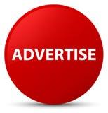 Adverteer rode ronde knoop vector illustratie