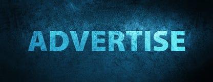 Adverteer speciale blauwe bannerachtergrond vector illustratie