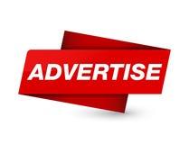 Adverteer teken van de premie het rode markering royalty-vrije illustratie