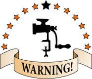 Advertencia stock de ilustración