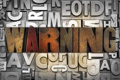 Advertencia Imagen de archivo libre de regalías