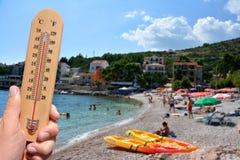 Advertencia caliente extrema del verano Foto de archivo libre de regalías