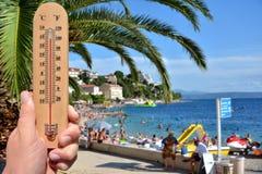 Advertencia caliente extrema del verano Imágenes de archivo libres de regalías