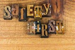 Advertencia casera comercial de la seguridad primero Imagen de archivo libre de regalías