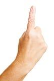 Advertencia con el dedo índice Fotografía de archivo libre de regalías