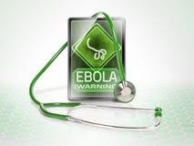 Advertencia de Ebola Fotografía de archivo