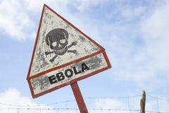 Advertencia de Ebola Foto de archivo