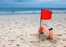 Advertencia de la bandera de una tormenta Fotografía de archivo libre de regalías