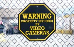 Advertencia de la cámara de vídeo Fotos de archivo libres de regalías