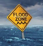 Advertencia de la inundación Imágenes de archivo libres de regalías