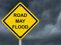 Advertencia de la inundación Fotos de archivo libres de regalías