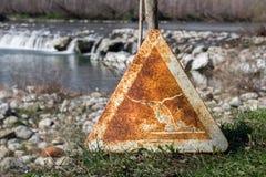 Advertencia de la inundación Imagen de archivo libre de regalías