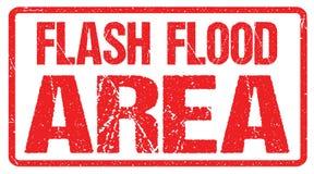 Advertencia de la inundación de la señal de peligro Reloj de inundación repentina stock de ilustración