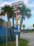 Advertencia de la oleada del huracán Foto de archivo libre de regalías
