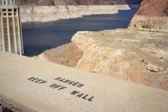 Advertencia de la Presa Hoover Fotografía de archivo