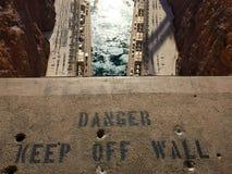 Advertencia de la Presa Hoover Imagenes de archivo