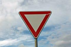Advertencia de la señal de tráfico Imágenes de archivo libres de regalías