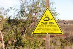 Advertencia de la serpiente Imagenes de archivo