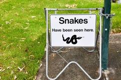 Advertencia de la serpiente Fotografía de archivo libre de regalías