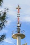 Advertencia de la sirena del tsunami Foto de archivo libre de regalías