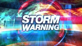 Advertencia de la tormenta - los gráficos de la difusión TV titulan stock de ilustración
