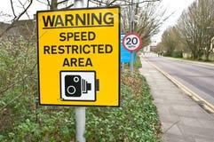 Advertencia de la velocidad Foto de archivo