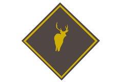 Advertencia de los ciervos Imagen de archivo libre de regalías