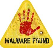 Advertencia de Malware Foto de archivo