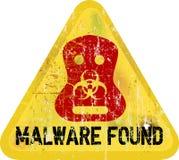 Advertencia de Malware Fotos de archivo libres de regalías