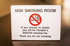 Advertencia de no fumadores de la muestra del sitio con la tarifa Imagen de archivo libre de regalías