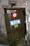 Advertencia de puerta Fotografía de archivo