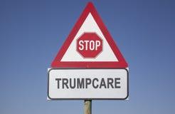 Advertencia de Trumpcare Foto de archivo libre de regalías